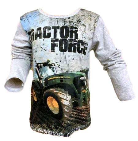 Long sleeve Tractor Force grijs