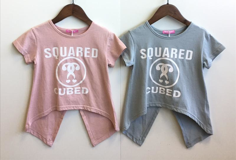 Squared and Cubed T-shirt SPLIT roze