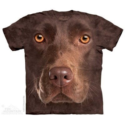 Chocolate Lab Face Animals T Shirt